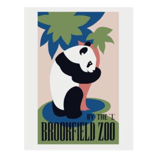 Anuncio retro de la panda del parque zoológico de  postal