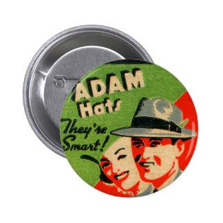 Anuncio retro de los gorras de Adán del arte del M Pins