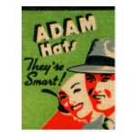 Anuncio retro de los gorras de Adán del arte del Postal