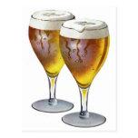 Anuncio retro de los vidrios de cerveza de la cerv tarjeta postal