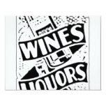 Anuncio retro del estilo de los vinos y de los invitación 10,8 x 13,9 cm