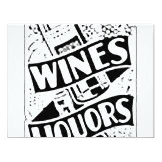Anuncio retro del estilo de los vinos y de los