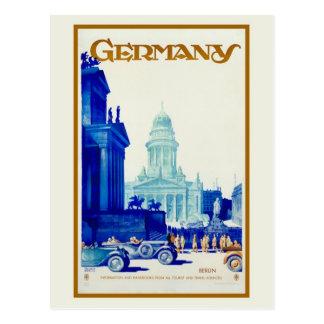Anuncio retro del viaje de Berlín Alemania del vin Postales