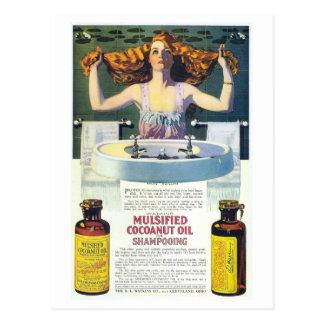 Anuncio shampooing del nouveau del arte de Coles Postales