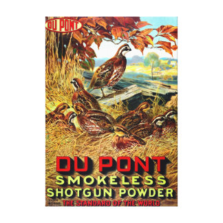 Anuncio sin humo 1913 del polvo de la escopeta impresión en lienzo estirada