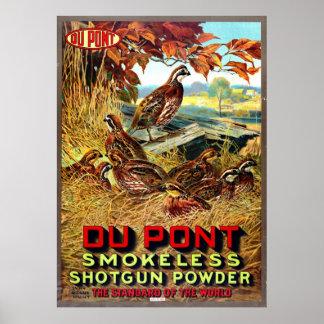 Anuncio sin humo 1913 del polvo de la escopeta posters