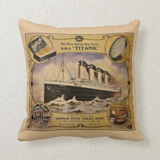 Anuncio titánico del jabón del vintage del RMS Almohada