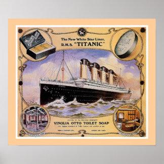 Anuncio titánico del jabón del vintage del RMS (lo Póster
