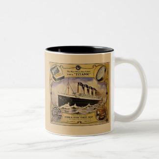 Anuncio titánico del jabón del vintage del RMS Taza Dos Tonos