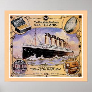 Anuncio titánico del jabón del vintage del RMS (w/ Póster