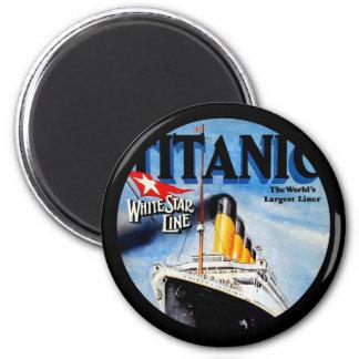 Anuncio titánico del viaje del RMS Imán Redondo 5 Cm