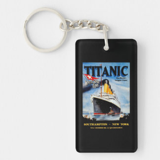 Anuncio titánico del viaje del RMS Llavero Rectangular Acrílico A Una Cara