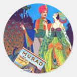 Anuncio turco de los cigarrillos de Murad del Pegatina Redonda
