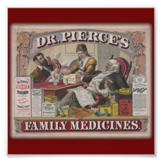 Anuncio viejo del tyme de las medicinas de familia fotografía