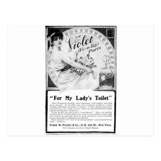 Anuncio viejo para Toilet de mi señora Tarjeta Postal