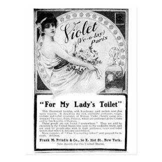 Anuncio viejo para Toilet de mi señora Tarjetas Postales