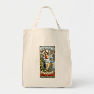 Anuncio virginal del vintage del nativo americano  bolsas