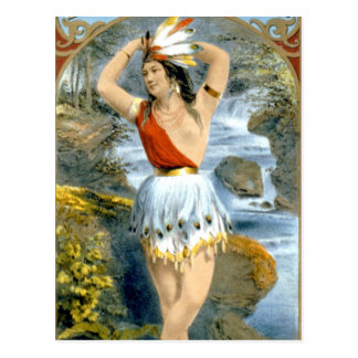 Anuncio virginal del vintage del nativo americano tarjeta postal