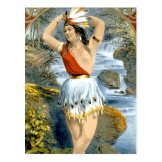 Anuncio virginal del vintage del nativo americano postales
