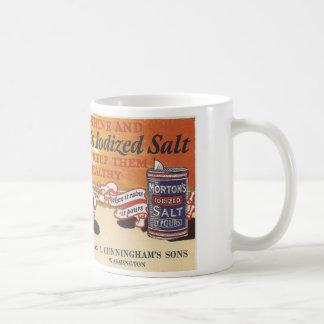 Anuncio Washington, Iowa de la sal del vintage Tazas
