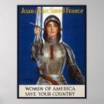 Anuncios americanos franceses del feminismo de poster