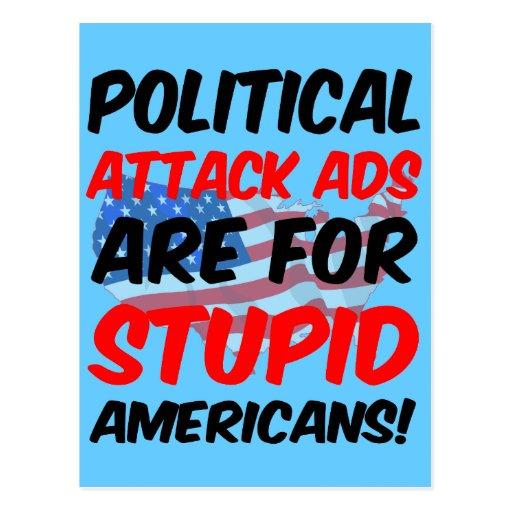 Anuncios de ataque políticos postales