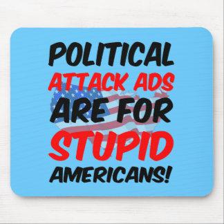 Anuncios de ataque políticos tapetes de ratones