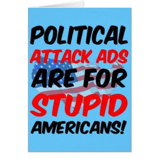 Anuncios de ataque políticos tarjeta de felicitación