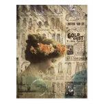 Anuncios de la moda de la mujer del vintage del postales