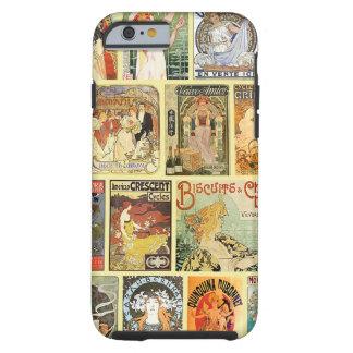 Anuncios de Nouveau del arte del vintage Funda De iPhone 6 Tough