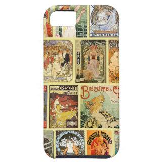 Anuncios de Nouveau del arte del vintage Funda Para iPhone 5 Tough