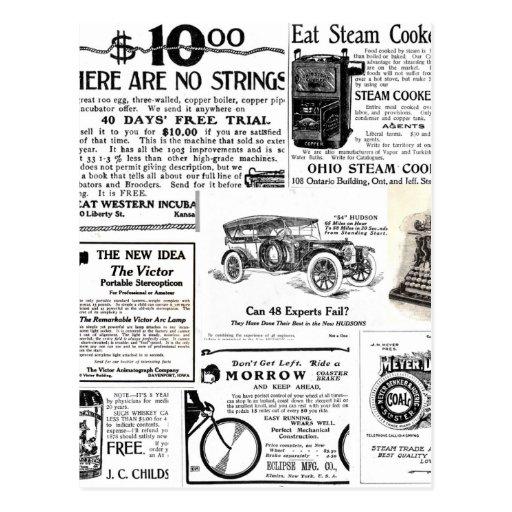 Anuncios del vintage postales