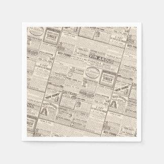 Anuncios franceses antiguos - productos para las servilletas de papel