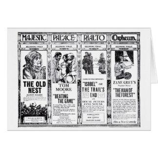 Anuncios grises 1921 de la película muda de Peters Tarjeta De Felicitación