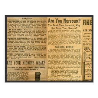 Anuncios médicos 1907 postal