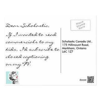 Anuncios publicitarios de la lectura tarjeta postal