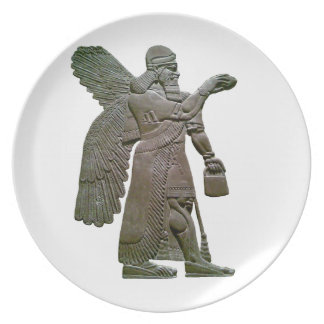 Anunnuki Ancient Sumerian Alien Extraterrestrial Party Plates