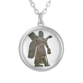 Anunnuki Ancient Sumerian Alien Extraterrestrial Round Pendant Necklace