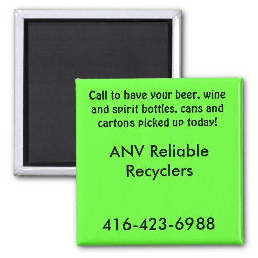 ANV Reliable Recyclers 2 Inch Square Magnet