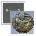Anverso de la moneda que representa al turco con c pin cuadrada 5 cm