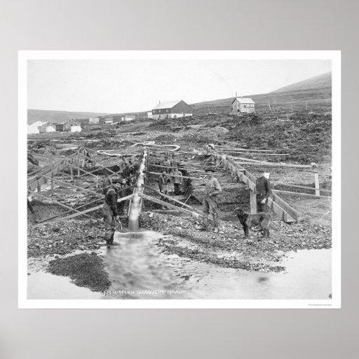 Anvil Creek Gold Mine Alaska 1916 Poster