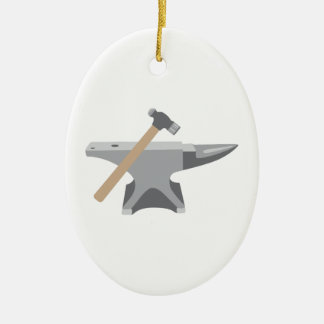 Anvil & Hammer Ceramic Ornament
