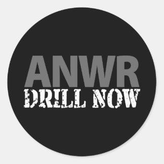 ANWR Drill Now Classic Round Sticker