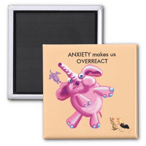Anxiety 2 Inch Square Magnet