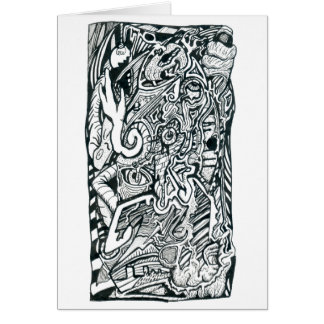 Anxiety Attack by Brian Benson Greeting Card