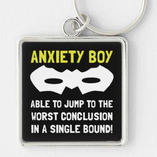 Anxiety Boy Keychain