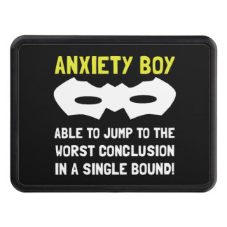 Anxiety Boy Tow Hitch Cover