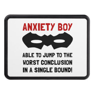 Anxiety Boy Trailer Hitch Covers