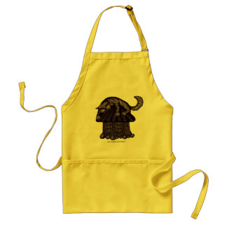 Anxiety cat abstract graphic art cute apron