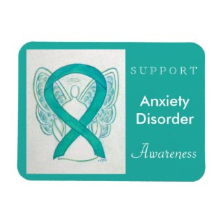 Anxiety Disorder Awareness Angel Custom Magnet